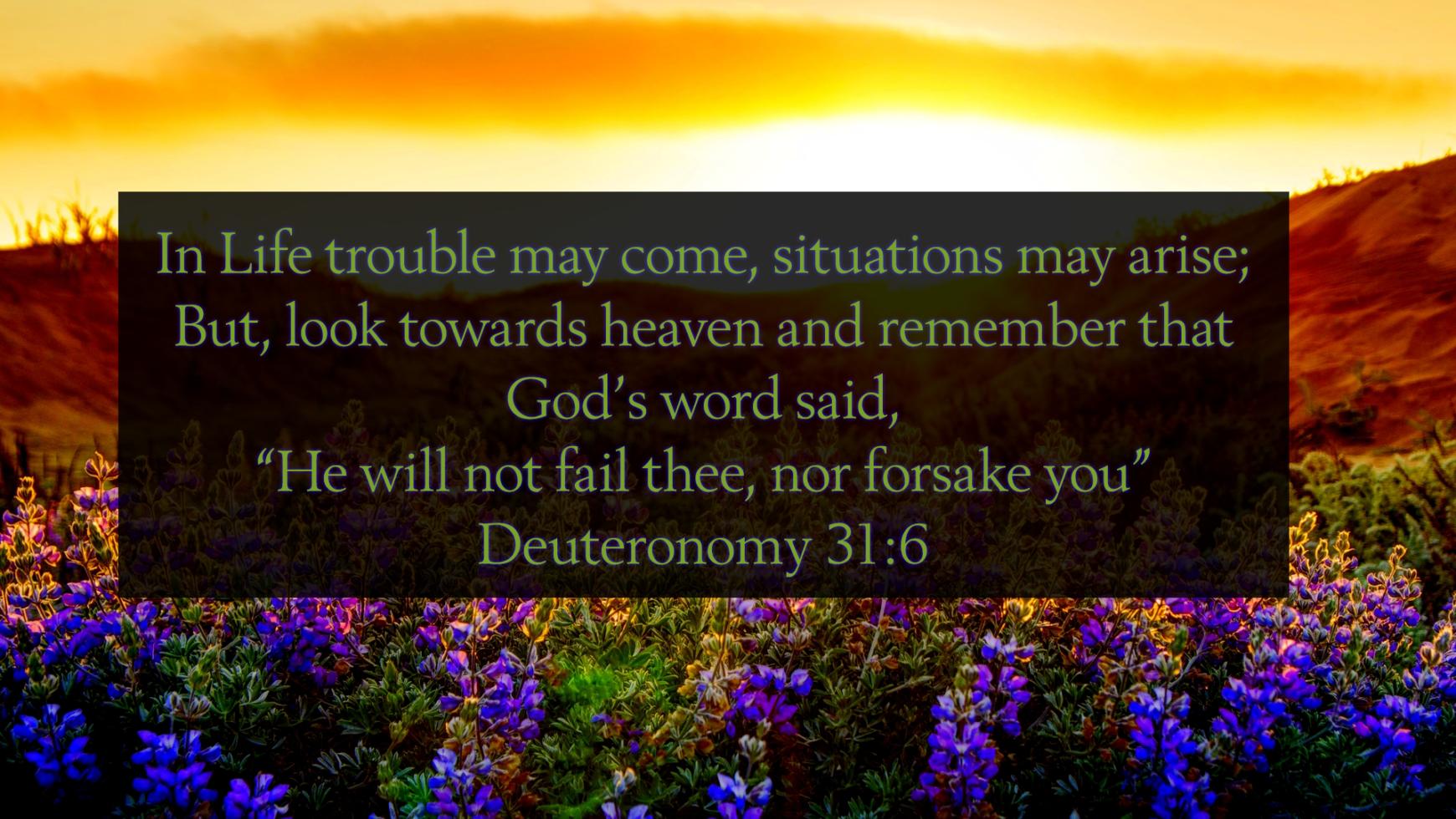 4/18 – Deuteronomy 31:6